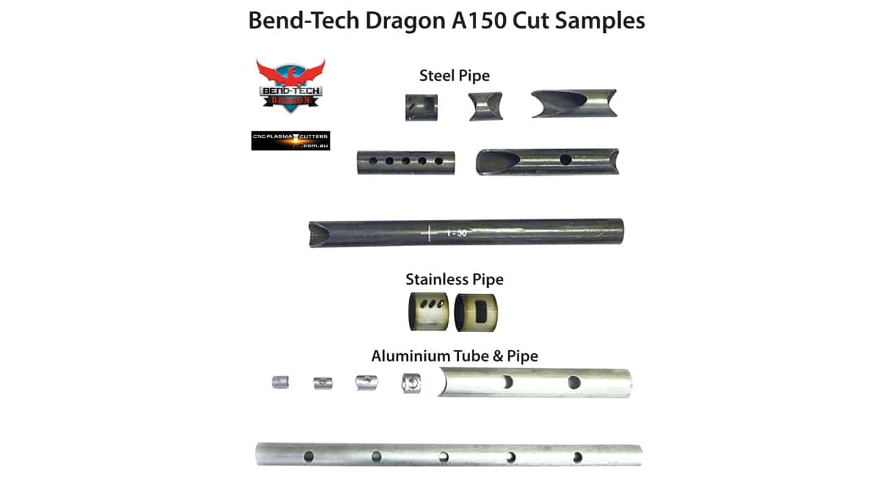 Bend-Tech Dragon A150 CNC Plasma Pipe and Tube Cutting Machine Cut Samples