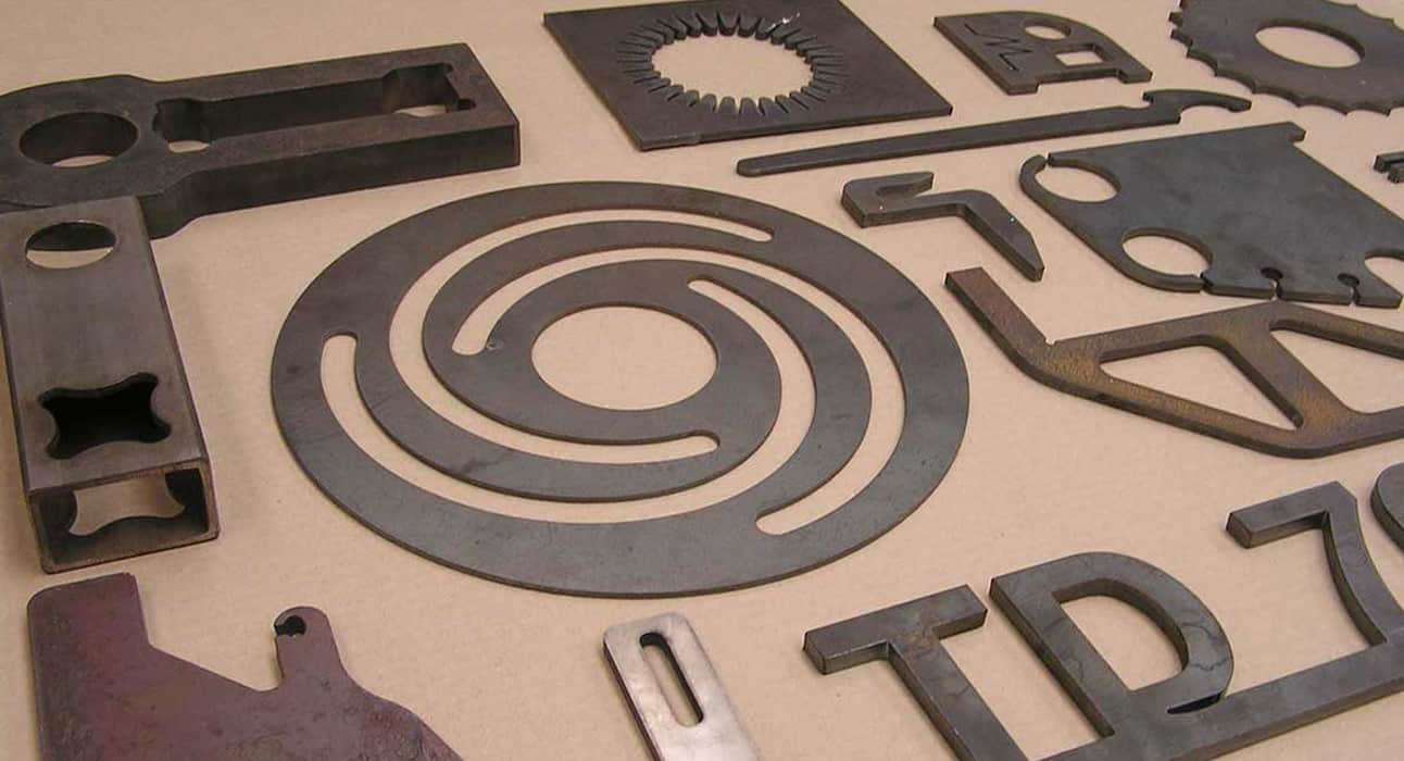 CNC Plasma Cutters different material thickness cutting sample output